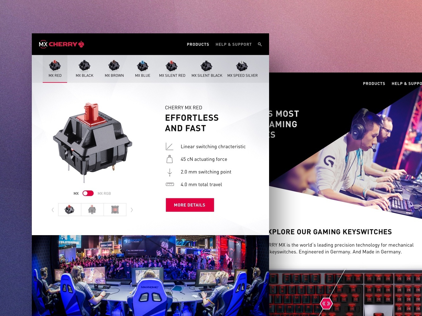 CHERRY MX Web Design redesign digital desktop uidesign design