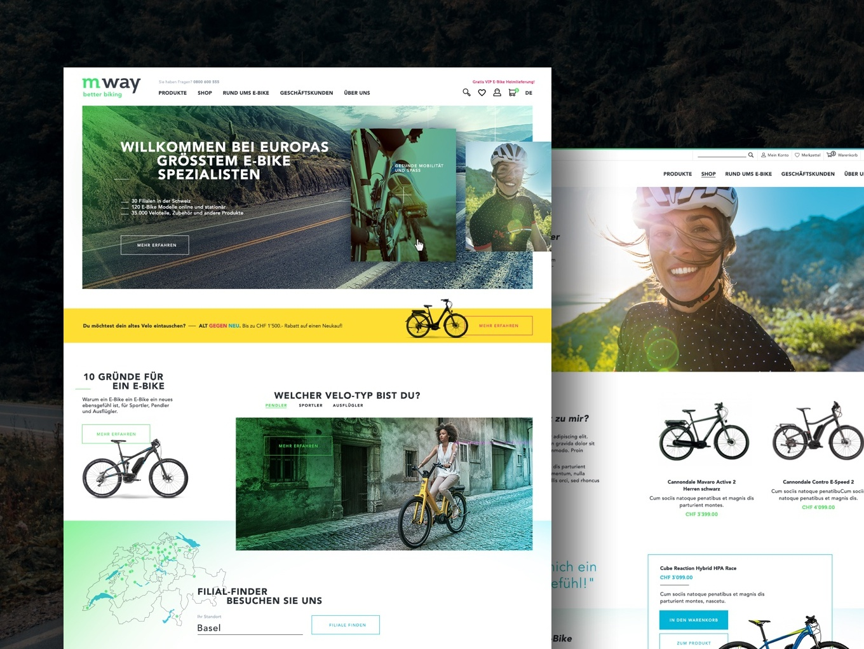 mway E-commerce Desktop biking uidesign ecommerce redesign digital desktop design