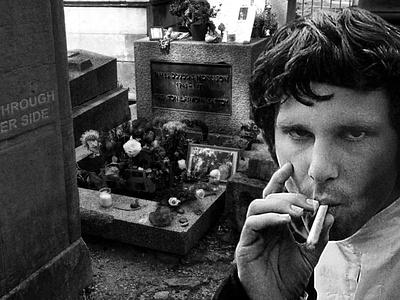 Jim Morrison at his Grave photoshop jim morrison grave the doors jim morrison