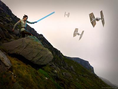 Rey - Star Wars tie fighter return of the jedi rey starwars