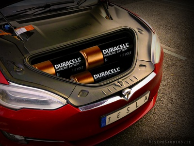 Tesla signs deal with Duracell batteries duracell tesla