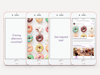 yp Dine 2.0 - App Preview Storyboards 1 feed order app previews ios search restaurant food delivery reservation flat user interface iphone 6 2016 cynthia irani