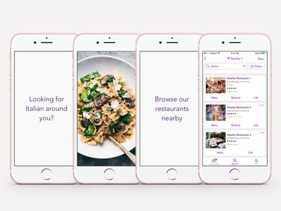 yp Dine 2.0 - App Preview Storyboards 2 cynthia irani 2016 iphone 6 flat user interface reservation food delivery restaurant search ios app previews order