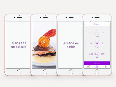 yp Dine 2.0 - App Preview Storyboards 3 cynthia irani 2016 iphone 6 flat user interface reservation food delivery restaurant search ios app previews order