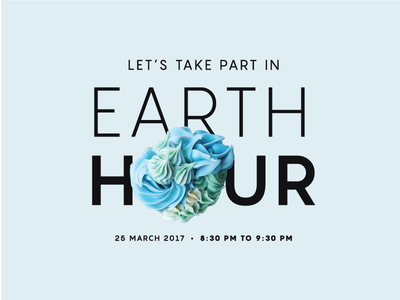 Earth Hour cynthia irani 2017 design food photography blue cynzbakes cupcakes earth hour