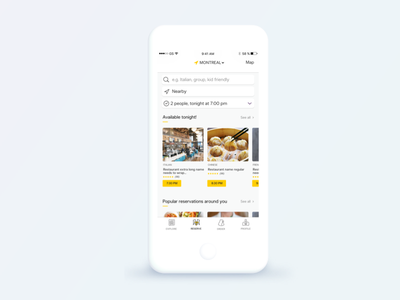 Nectar - Reserve 2017 app clean design home restaurant minimalist interface mobile reservation feed order ui ux cynthia irani