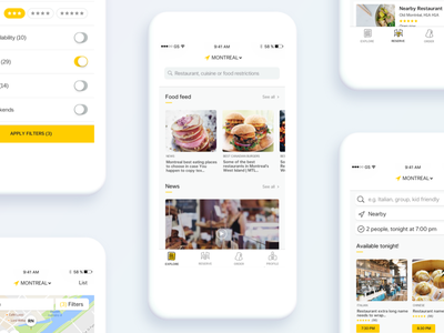 Nectar - WIP 2017 app clean design home restaurant minimalist interface mobile reservation feed order ui ux cynthia irani