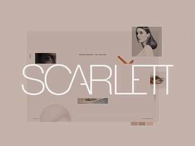 Scarlett - Brand Identity/ mood board minimalism mood board 2018 clean design home website brand fashion logo branding ui ux cynthia irani