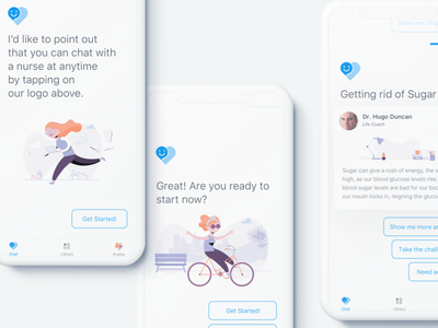 Hackathon project chatbot healthcare health doctor minimalist mobile app cynthia irani ui ux automation chat 2018