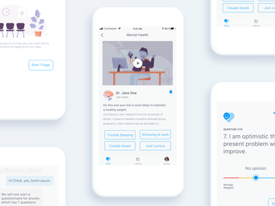Patient App - Proof of Concept chatbot triage user experience virtual clinic clinic doctor app virtual healthcare healthcare chat automation cynthia irani