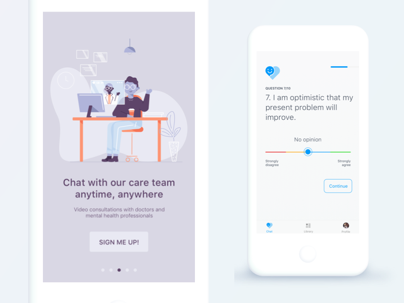 Onboarding + questionnaire POC onboard virtual healthcare healthcare chat questionnaire onboarding screen onboarding automation ios user experience cynthia irani