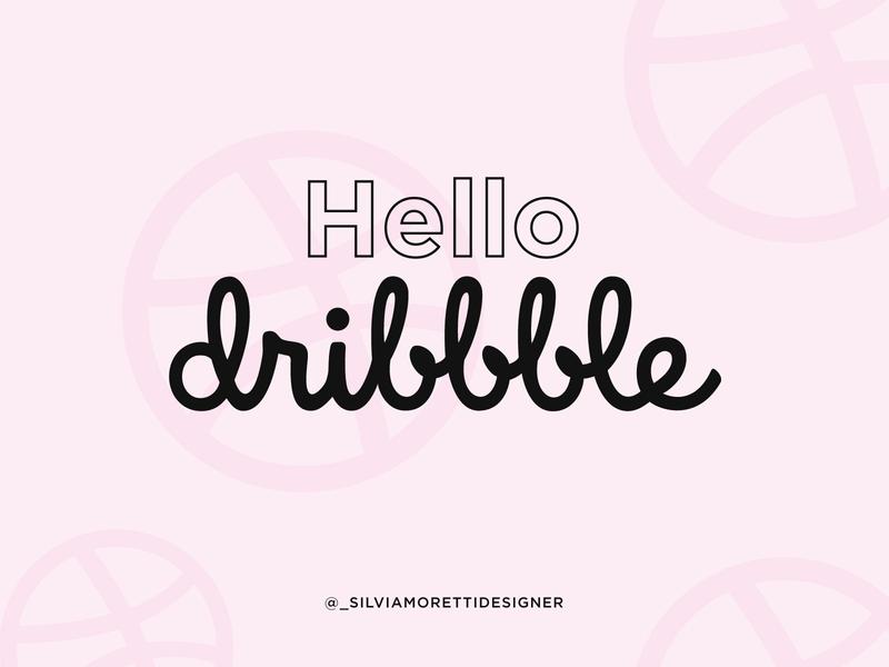 Hello Dribbble! freelance designer personal brand pink design dribbble hellodribbble freelance logo designer minimal graphicdesigner brand identity branding brand design