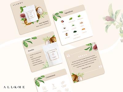 Inner Harmony figma web design instagram post carousel illustration art design graphic design