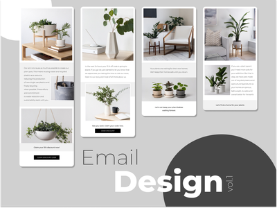 Kanso - Email Design vol.1 modern plant custom newsletter emails email shapes abstract 2d colors design
