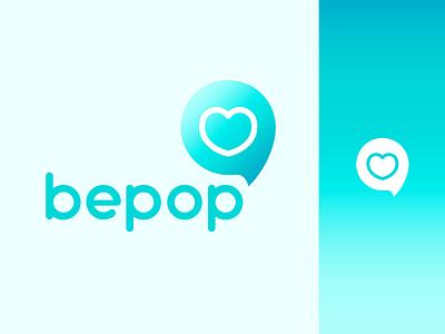 BePop / Logo Design logo design influencers influence social media graphic design branding logo design