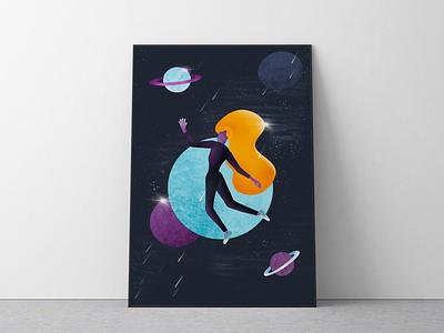 Space Adventure shape space procreate abstract illustration illustration art design colors 2d