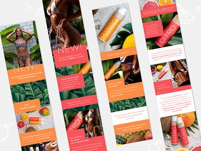 Citro & Mango email designs / Cocosolis products agency marketing digital ui graphic design web design figma email design email branding design