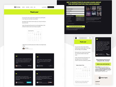 Page Design / Marketing Plan Form mobile desktop agency website 2d visual design marketing agency web figma marketing ux page web design ui design