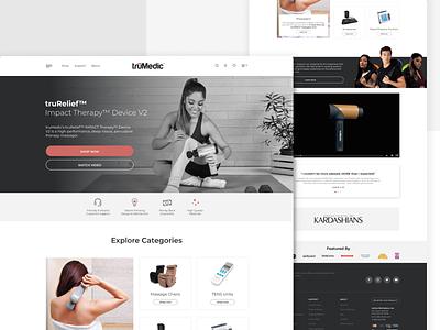Landing page design / TruMedic ux graphic design agency marketing web design massagers web website wireframe figma branding ui design
