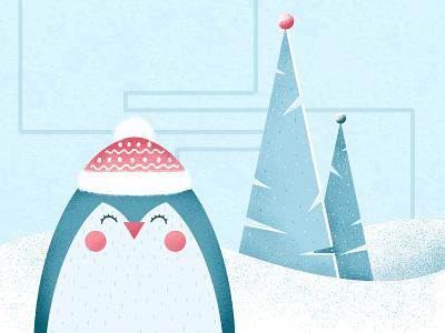 Baby Winter shapes illustration art illustration flat design colors abstract 2d