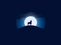 Boston terrier moonlight