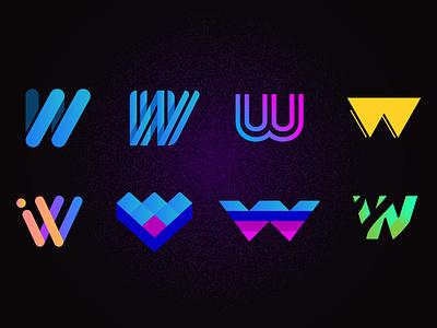 A collection of Dubs icon grid geometric art branding vector art illustration flat vector web color logo design design w