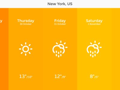 Dew - A simple weather web app ui weather web app simple