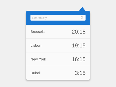 Time zones widget widget time timezones simple teaser ui extension chrome