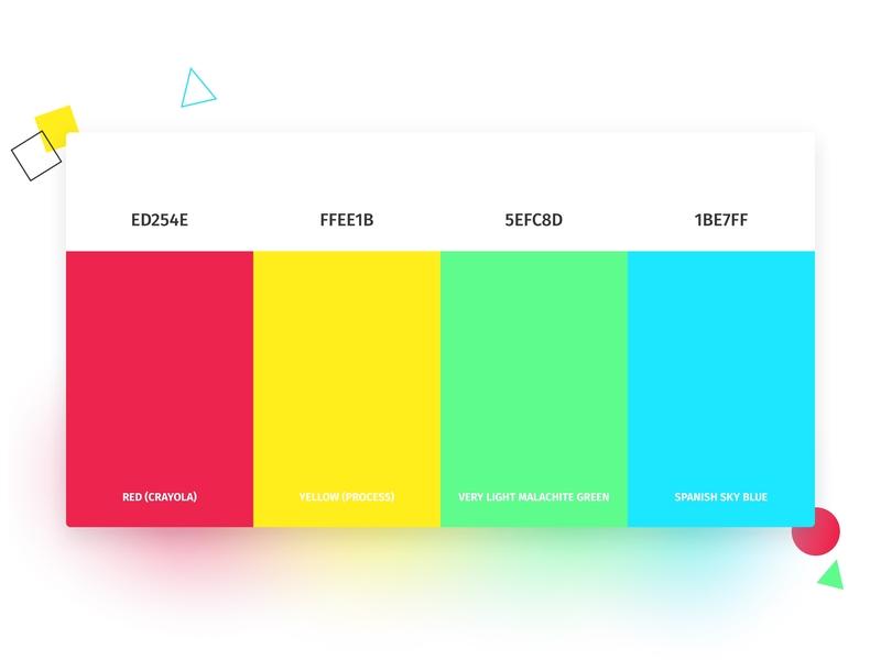 🎨 Color Palette for my Website colour palette colour website concept webdesigner ui color palette webdesign colorful colorscheme colors color