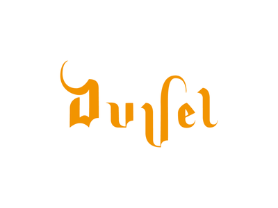 Duvel logo logo vector typography branding design