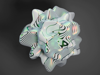 Living orb cycles orb distortion lines animation 3d blender