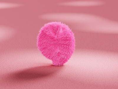 Gracious Furry hairy furry illustration experiment 3d logo blender