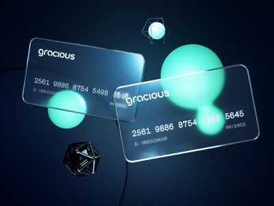 Glass Credit Cards [3D edition] noisy glossy glass design illustration experiment 3d blender