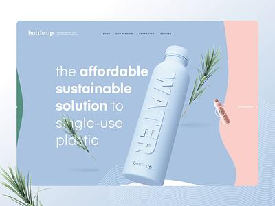 Bottle Up ux blender 3d pitch experiment webdesign website ui design animation bottle