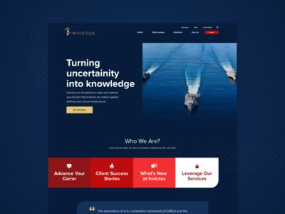 Invictus | Website branding vectorart application visual design site ux design platform page layout cyber security homepage user interface user experience uiux interaction interface webdesign website web
