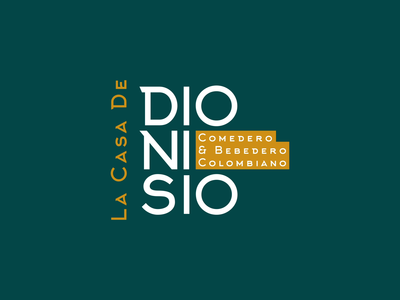 Dionisio | Animated Logo gif animated gif brand identity motion graphics motion design motion logotype animated logo animation animated type after effects 2d 2d animation type logo branding