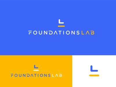 Foundations Lab Logo visual design visual identity design idenity typogaphy type icon logomark logotype logo design logo brand identity branding brand design brand