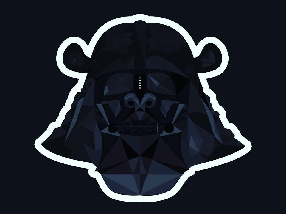 Shogun Darth Vader chewbacca c3p0 c3po r2-d2 r2d2 millennium falcon lightsabers lightsaber yoda darth maul darth vader darthvader sith jedi vector logo design logo design starwars star wars