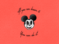 Vintage Mickey Print