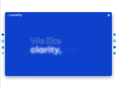 Lucidity - Interactive Expanded Bar blockchain webdesign interaction design interaction web design