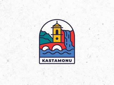 City Logo & Branding/Kastamonu illustrator icon flat graphicdesign design logo design line drawing landmark citylogo brand design branding city illustration logo city