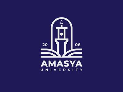 Amasya University Logo & Branding branding brand design vector university citylogo icon illustrator graphicdesign flat design lines logo