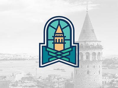 Logo & Branding Beyoglu logo design illustration landmark citylogo brand design icon graphicdesign flat illustrator illustraion