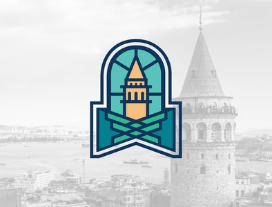 Logo & Branding Beyoglu logo design illustration landmark citylogo brand design icon graphicdesign flat illustrator illustraion