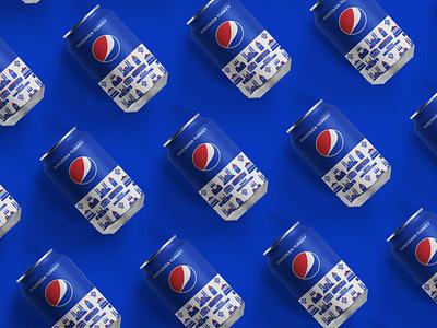 Packaging Pepsi Cans icon vector pepsi branding illustration landmark illustrator flat graphicdesign illustraion packagedesign packaging