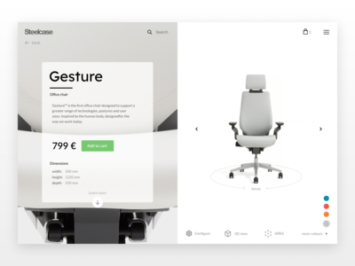 Daily Ui 012 Single Product - Steelcase Concept
