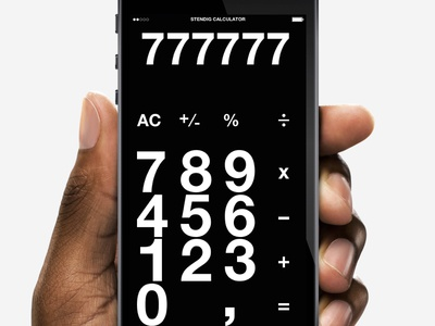 Stending calculator in black