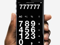 Stending calculator in black