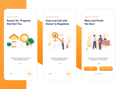 Rent and Buy App - Onboarding buy renting home walkthrough on boarding sketch figma ux challenge animation ui 100day onboarding ux ui 100 flat rental app rent mortgage design ui