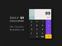 Daily Ui Challenge - 004   Calculator